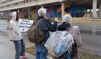 Weekly Peace Vigil at Federal Building, Indianapolis