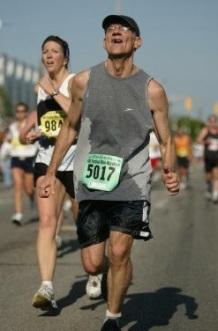 Jeff running Mini Marathon