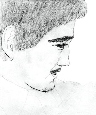 Drawing of Randy Porter by Jeff Kisling