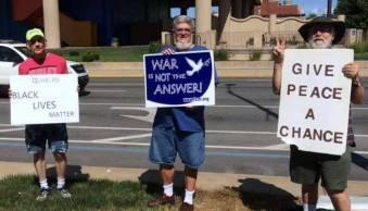 Weekly peace vigil Indianapolis