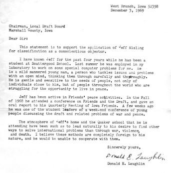 Don Laughlin's letter for CO application