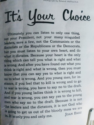 Draft--It's Your Choice