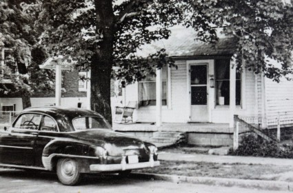 Paul's car in front of VSM house