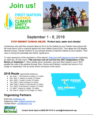 First Nation-Farmer Climate Unity March