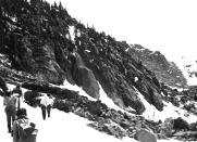 Fern Lake Trail in snow 2