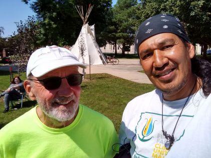 Jeff Kisling and Alton Onefeather
