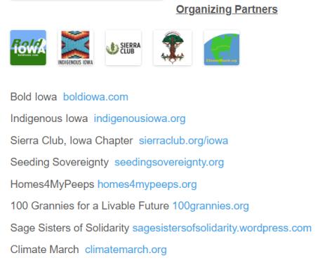 Organizing partners