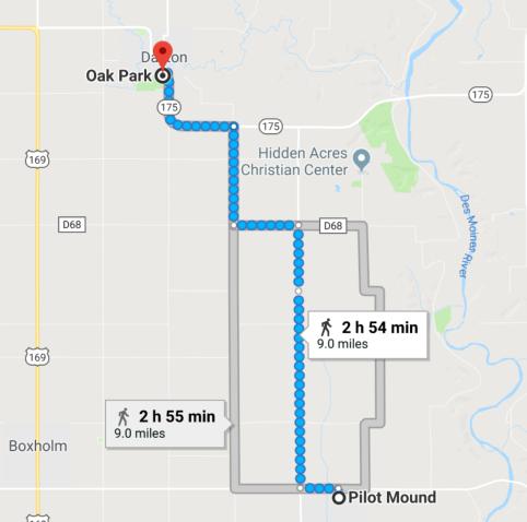 2018-Pilot-Mound-to-Dayton-walking
